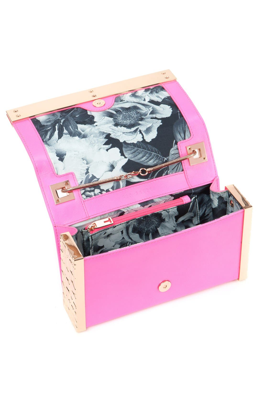,                             'Elise' Leather Box Clutch,                             Alternate thumbnail 10, color,                             660