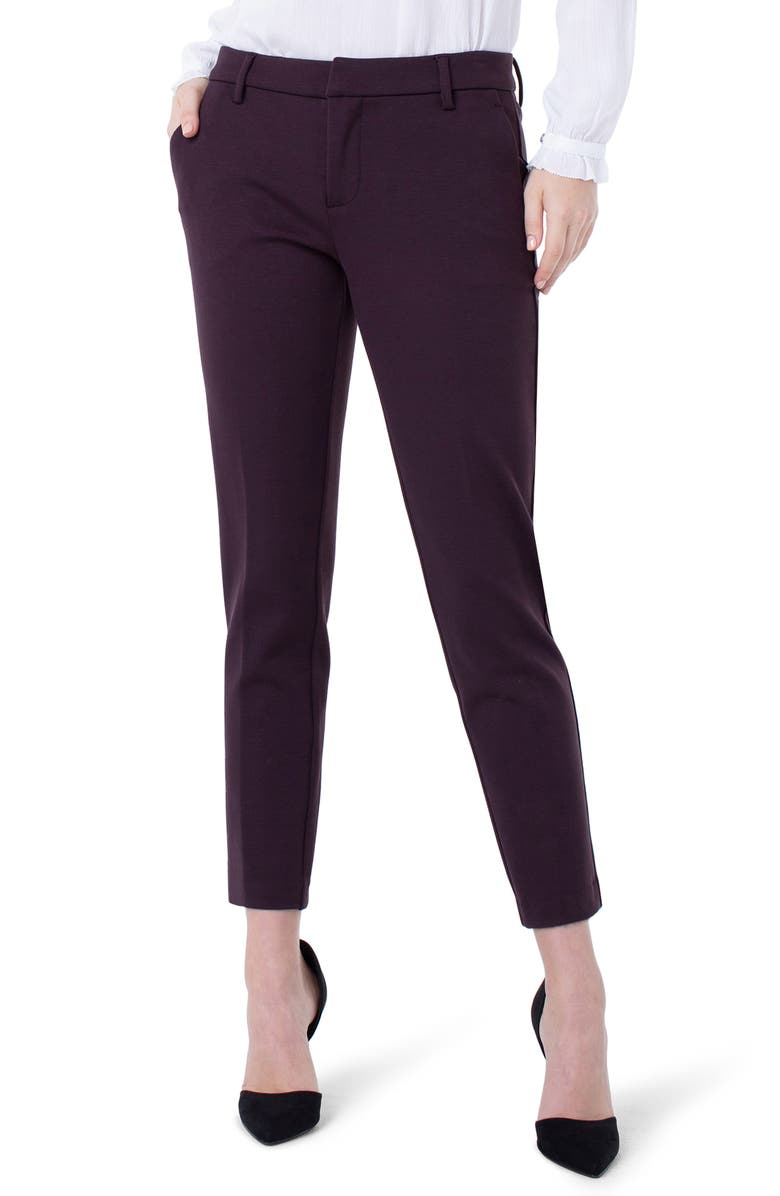 LIVERPOOL Kelsey Knit Trousers, Main, color, CURRANT