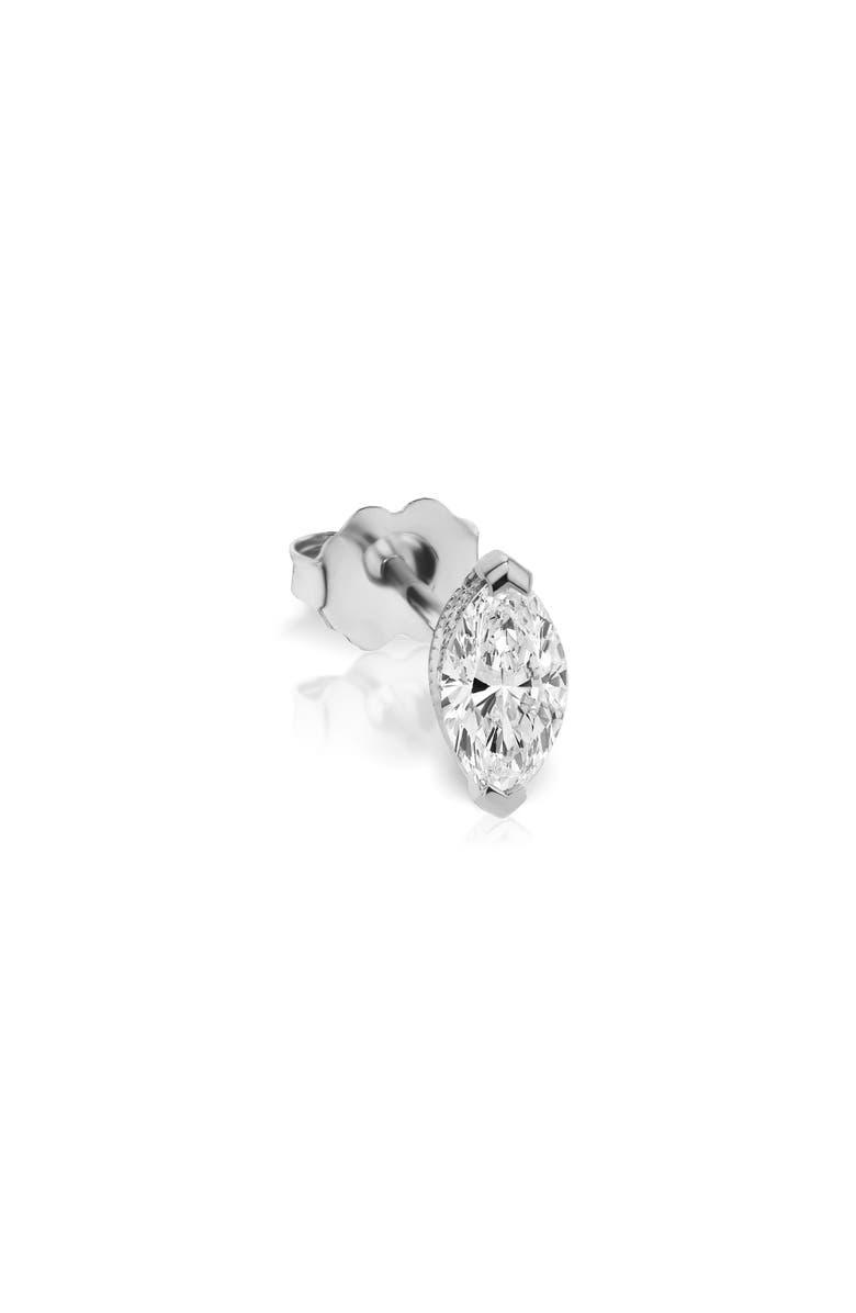 MARIA TASH Marquise Diamond Stud Earring, Main, color, WHITE GOLD/ DIAMOND