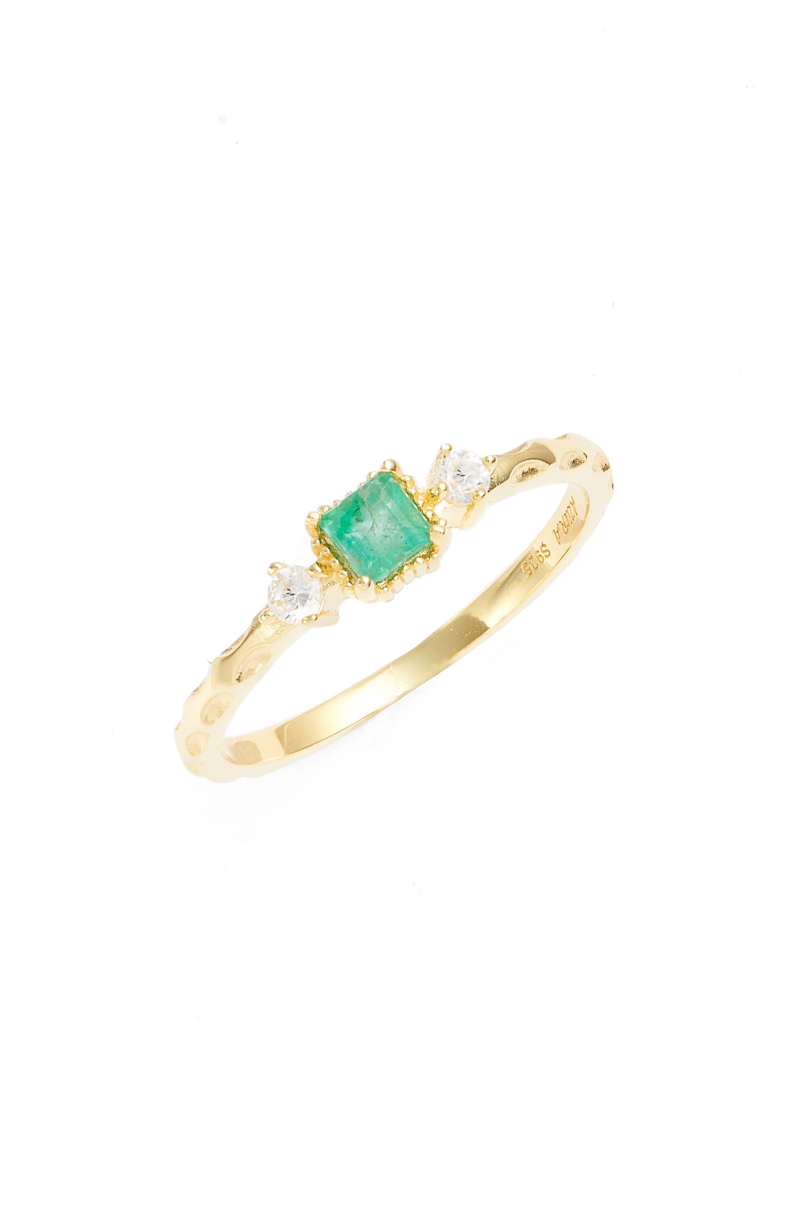 Emerald Unity Ring