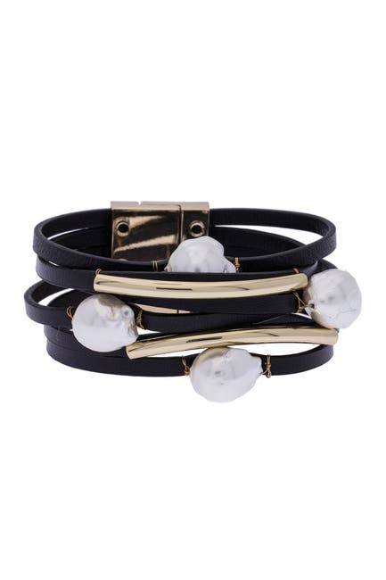 Image of Saachi Achai 8mm Baroque Pearl Bracelet