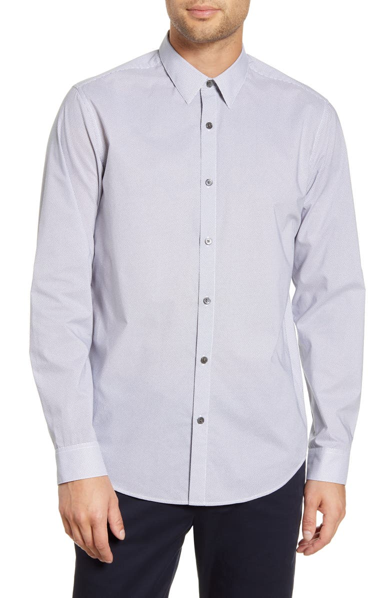 THEORY Irving Alberto Slim Fit Button-Up Shirt, Main, color, ECLIPSE MULTI