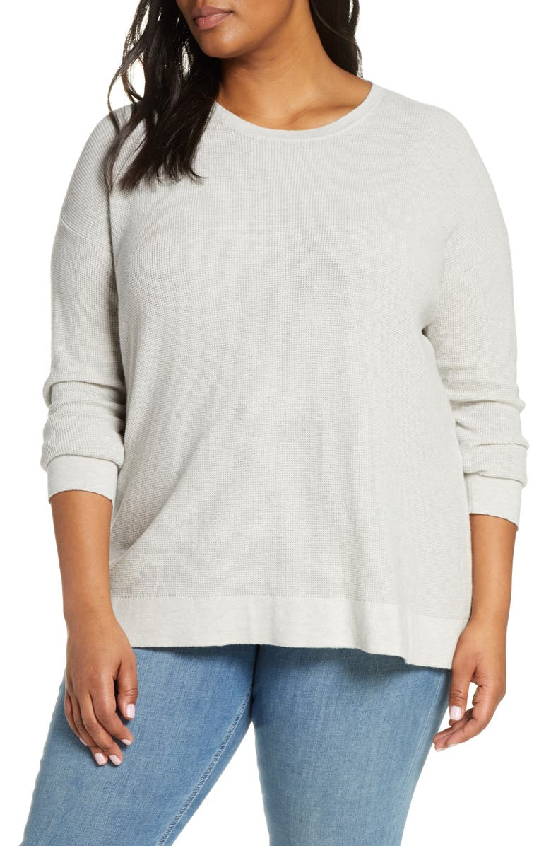 EILEEN FISHER Organic Cotton Blend Thermal Top, Main, color, 117