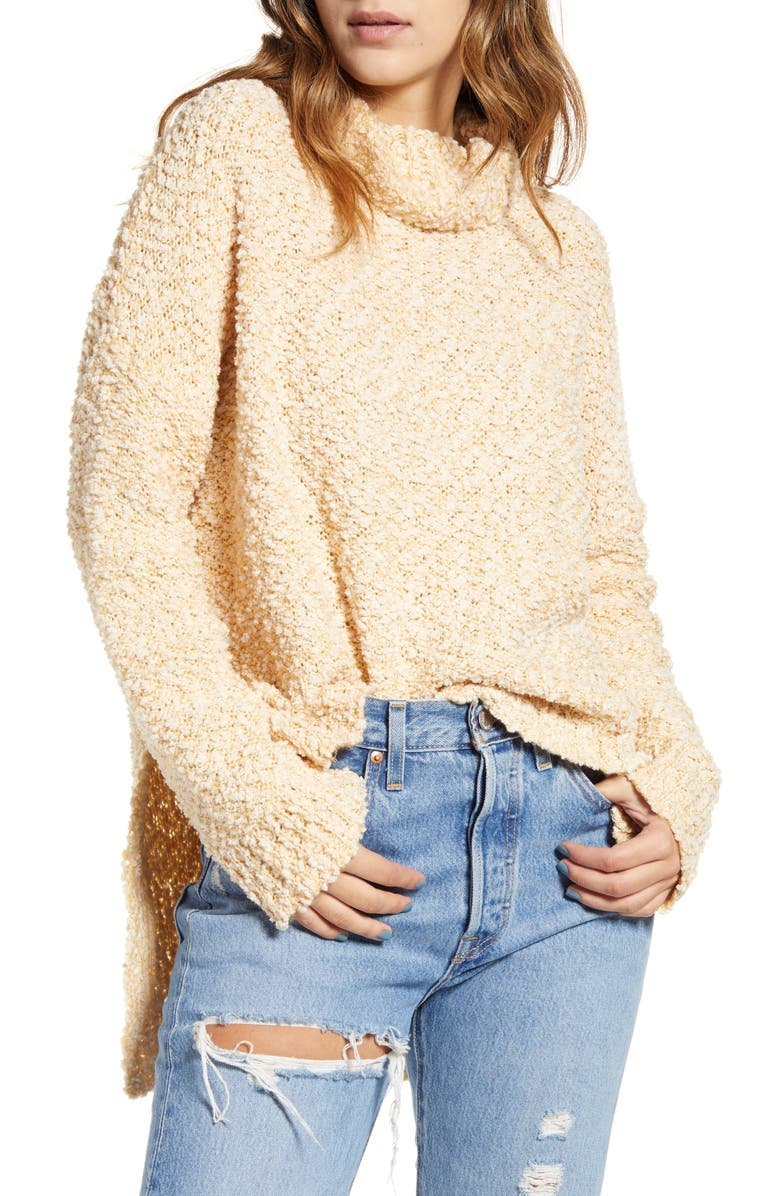 MINKPINK True Friends Cowl Neck Bouclé Sweater, Main, color, 250