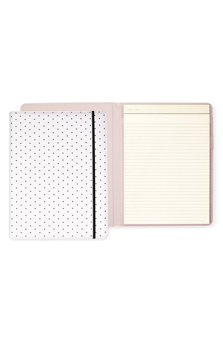 KATE SPADE NEW YORK bikini dot notepad folio, Main, color, GREY