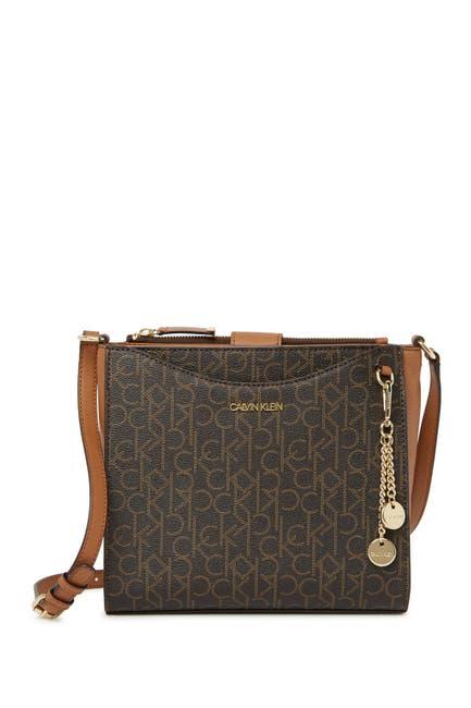 Image of Calvin Klein Pindot Logo Messenger Bag