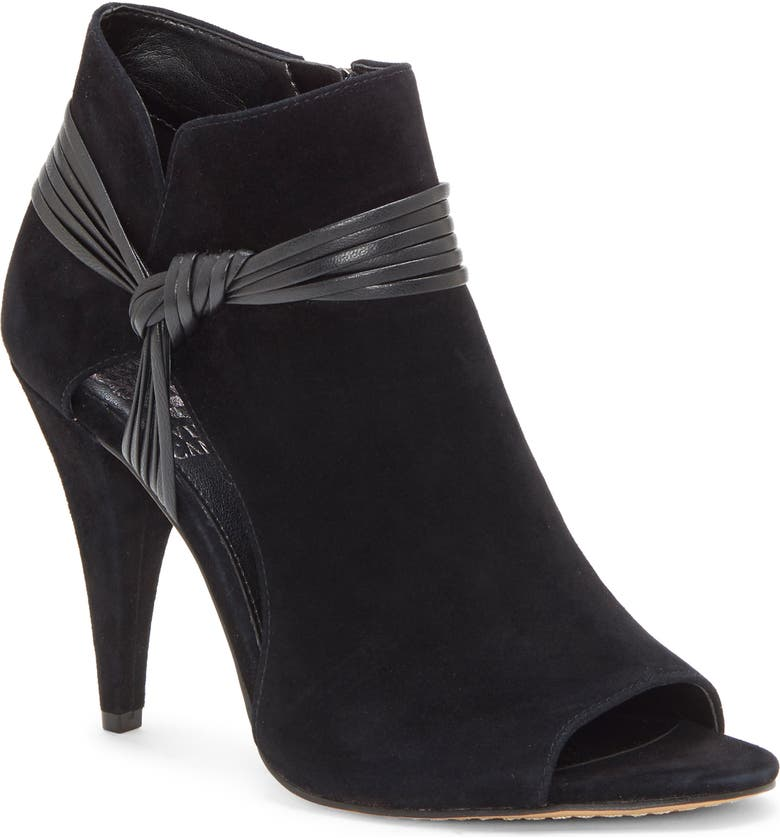 VINCE CAMUTO Annavay Open Toe Bootie, Main, color, 001