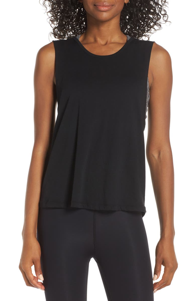 BEYOND YOGA Round the Twist Tank, Main, color, 001