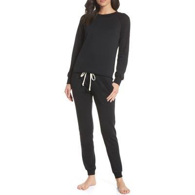 Alternative Lazy Day Sweatshirt & Sweatpants, Black