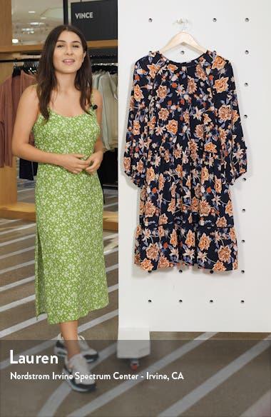 Floral Crepe Blouson Dress, sales video thumbnail
