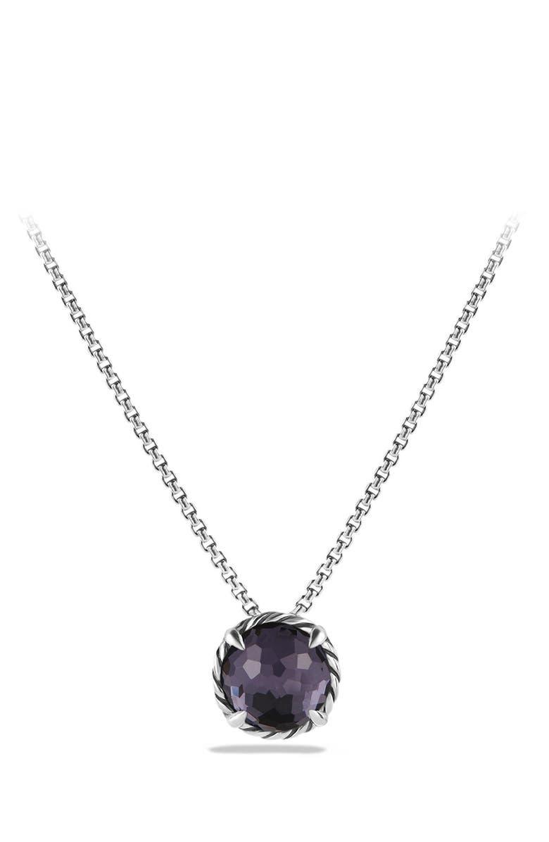 DAVID YURMAN Châtelaine<sup>®</sup> Pendant Necklace, Main, color, BLACK ORCHID