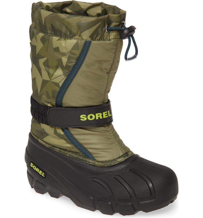 SOREL Flurry Weather Resistant Snow Boot, Main, color, HIKER GREEN