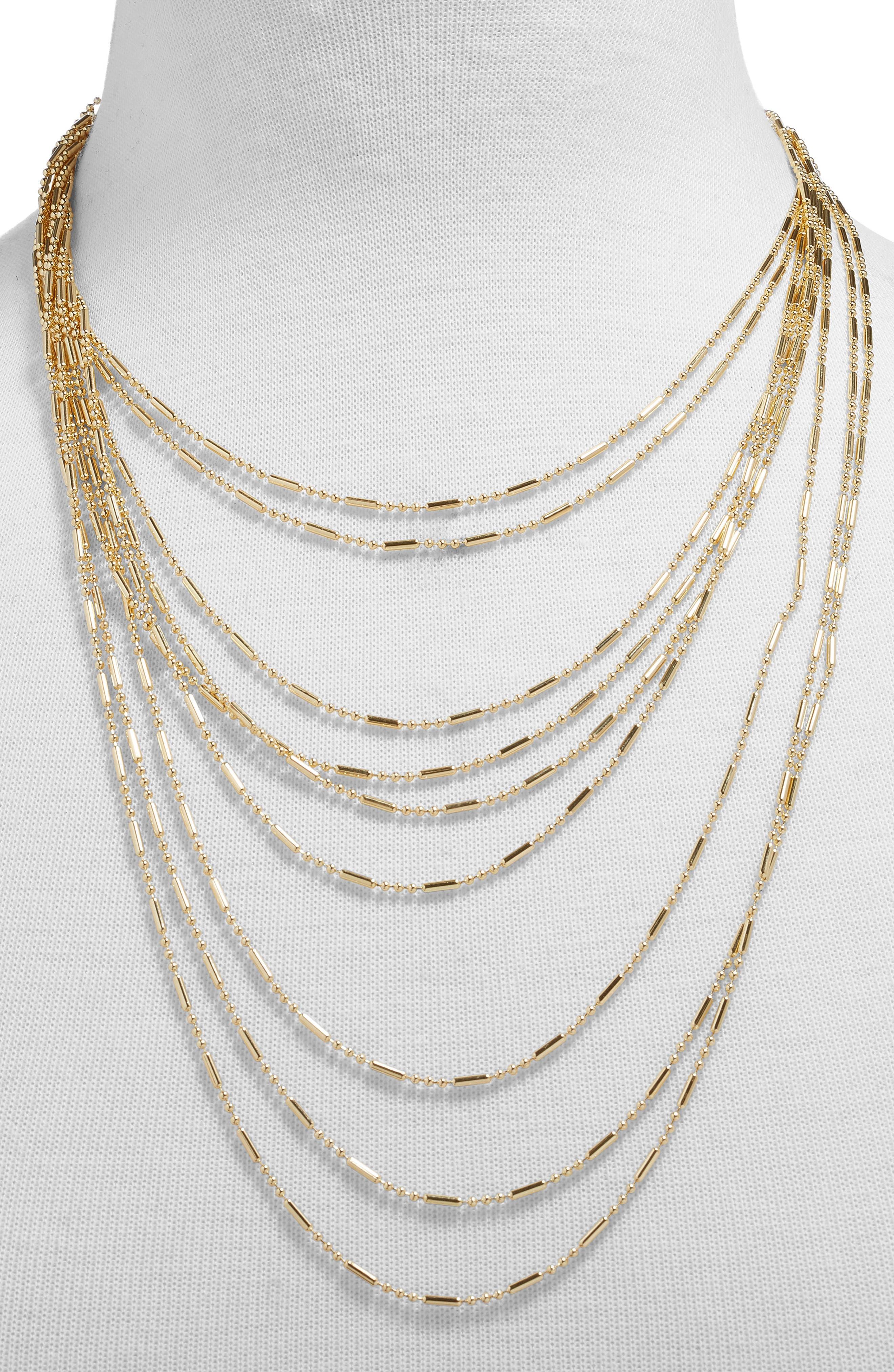 ,                             Alizandra Layered Necklace,                             Alternate thumbnail 2, color,                             GOLD