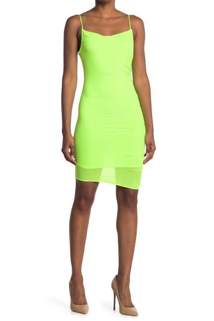 Image of bebe Power Mesh Dress