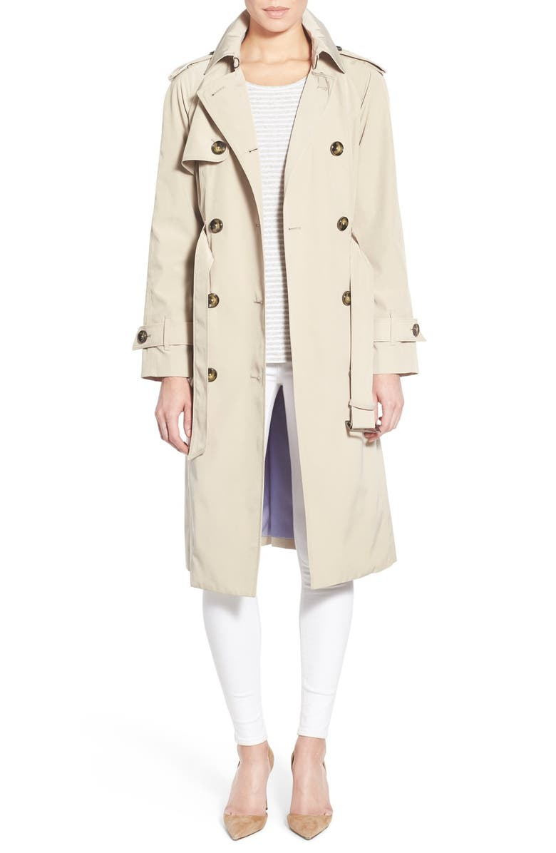 LONDON FOG Double Breasted Trench Coat, Main, color, 274
