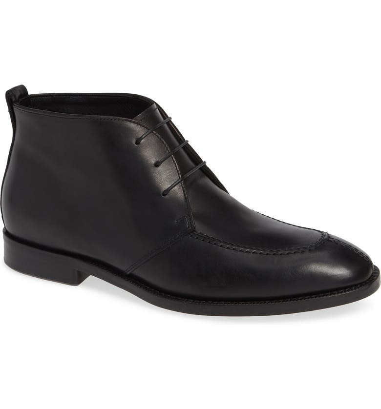 ALLEN EDMONDS Rafael Chukka Boot, Main, color, BLACK LEATHER