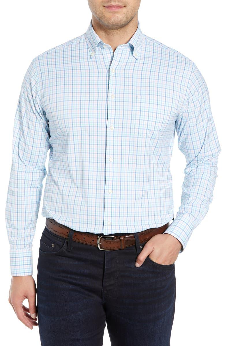 PETER MILLAR Applecrest Tattersall Performance Shirt, Main, color, 650