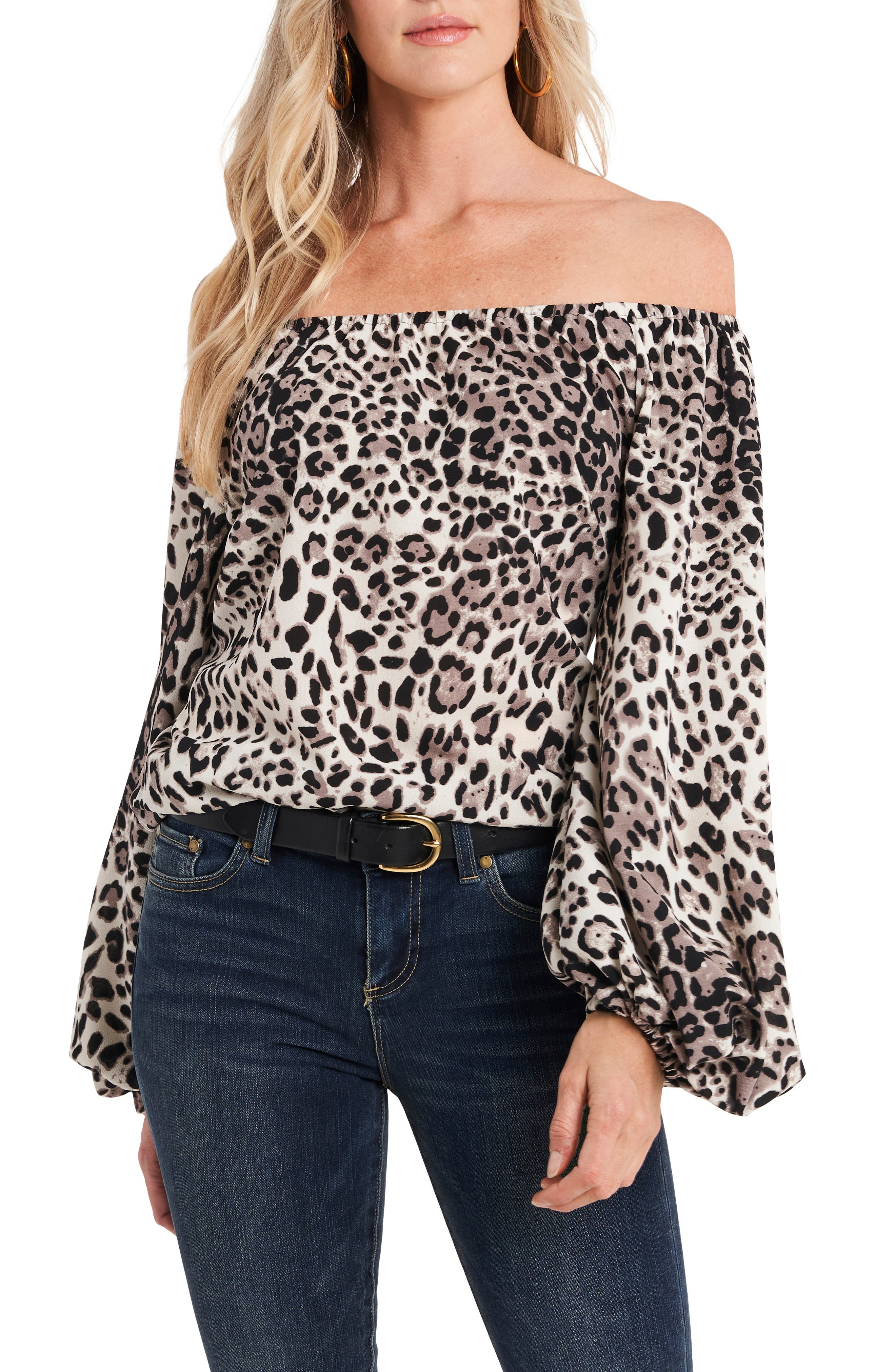 Vince Camuto Off the Shoulder Bubble Sleeve Top | Nordstrom