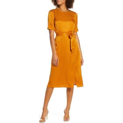 Ali & Jay Edison Nights Jacquard Dress, Yellow