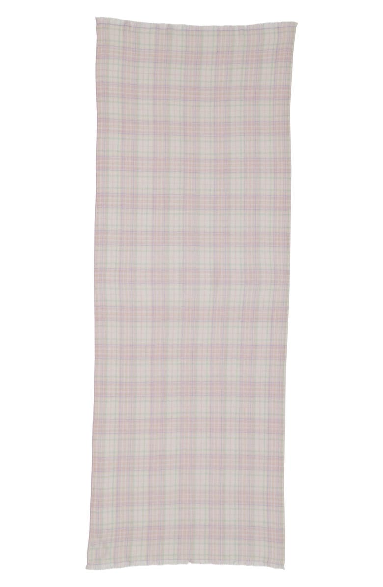 ISABEL MARANT Kuzanne Check Wool & Cashmere Scarf, Main, color, 400