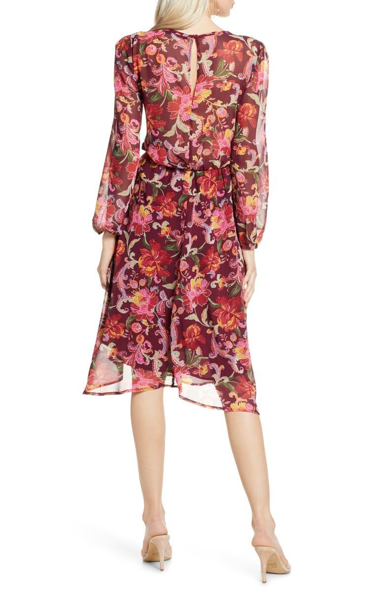 FRAICHE BY J Mela Long Sleeve Floral Dress, Alternate, color, MELA