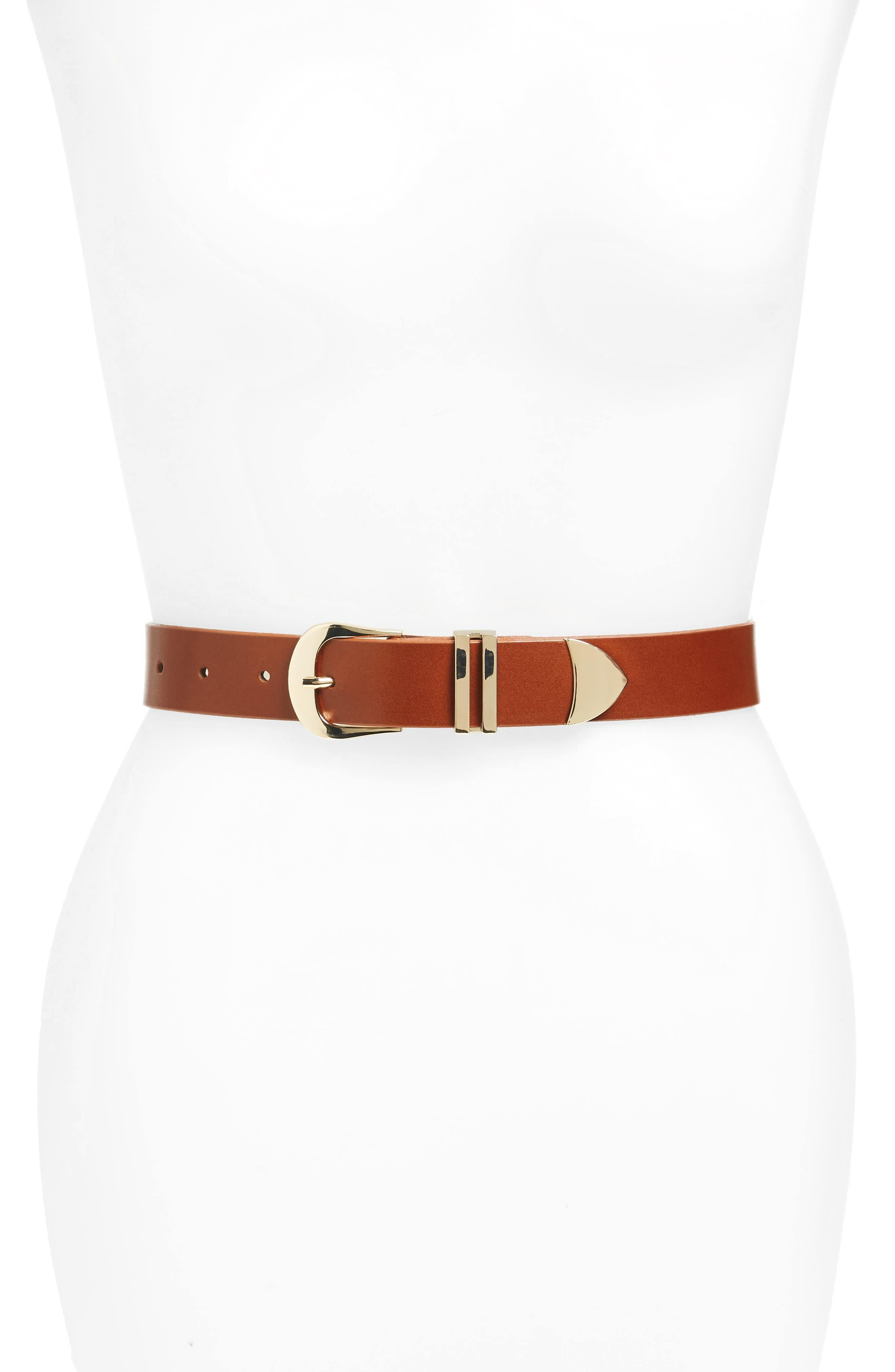 ,                             Leather Belt,                             Main thumbnail 3, color,                             210