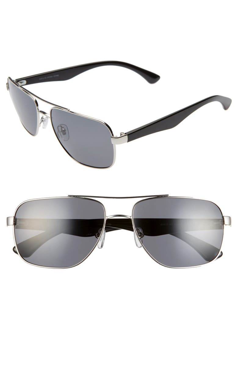 1901 Momsen 60mm Polarized Navigator Sunglasses, Main, color, 040