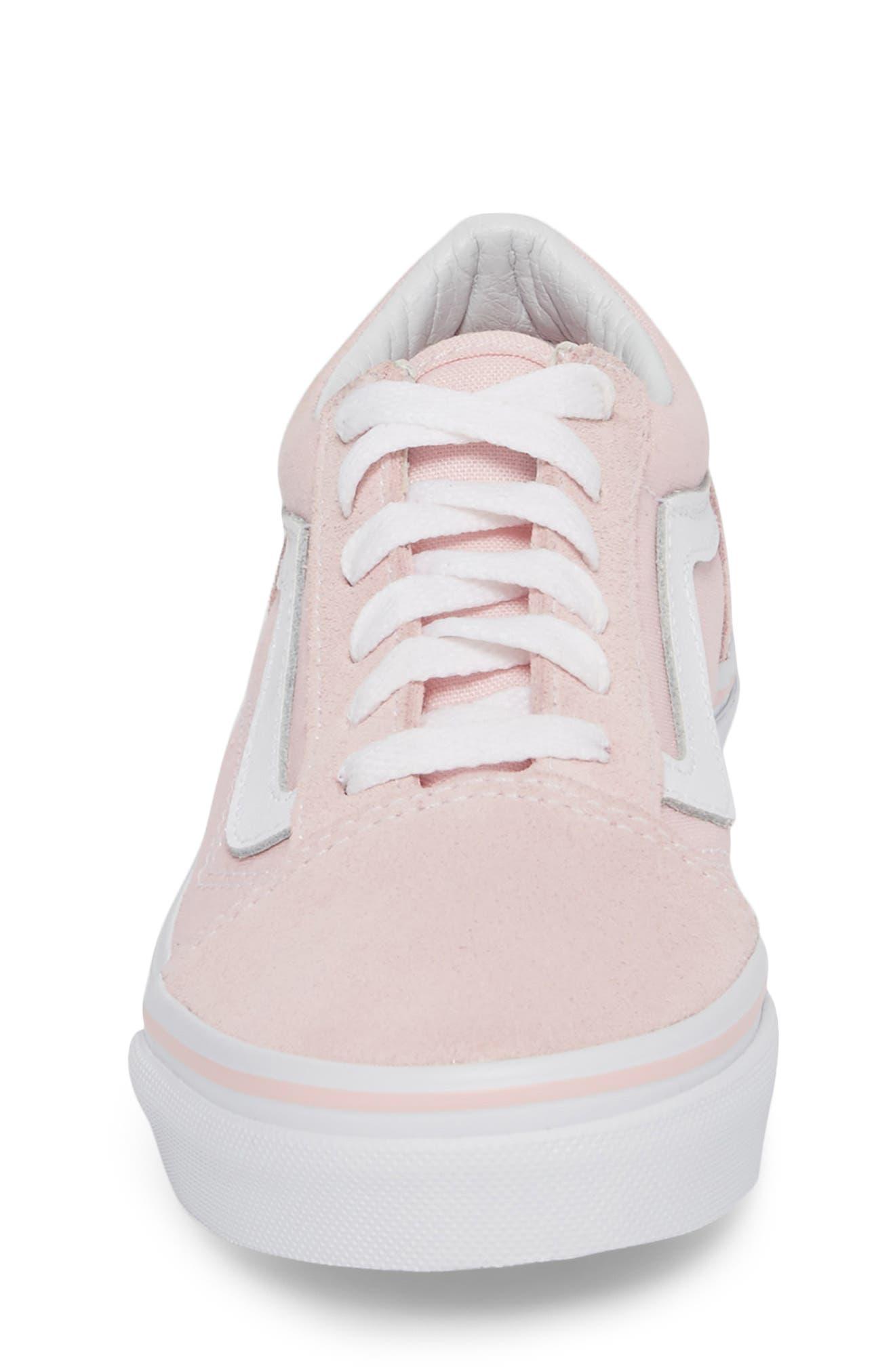 ,                             Old Skool Sneaker,                             Alternate thumbnail 4, color,                             CHALK PINK/ TRUE WHITE