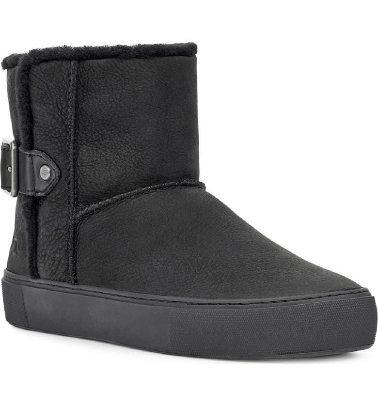 UGG<SUP>®</SUP> Aika Water Resistant Platform Sneaker Boot, Main, color, 001