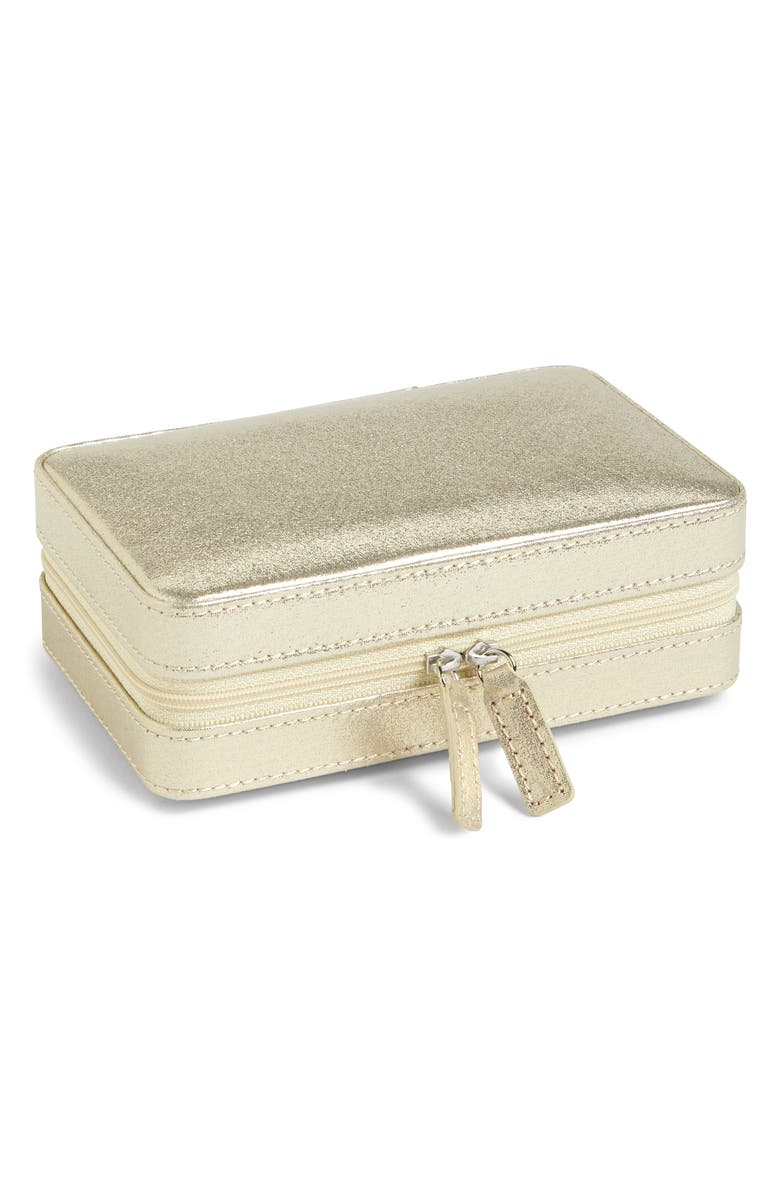 NORDSTROM Travel Jewelry Box, Main, color, GOLD
