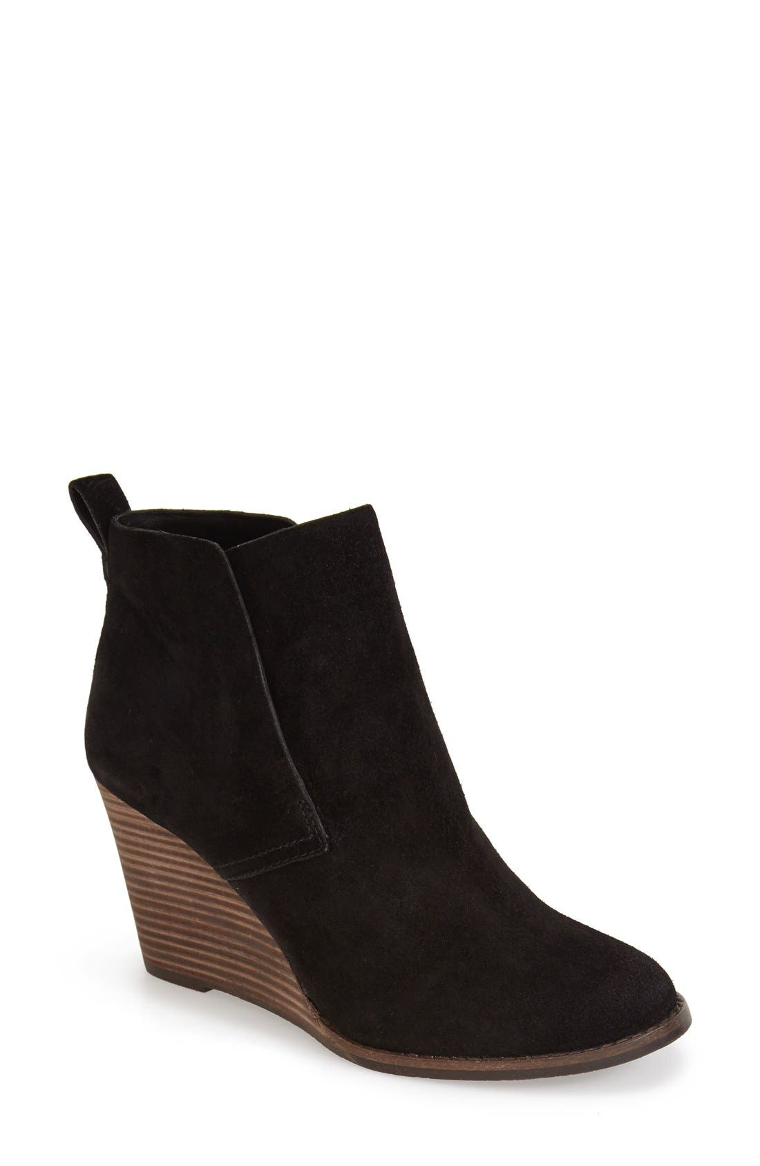 Image of Lucky Brand Yoniana Suede Wedge Bootie