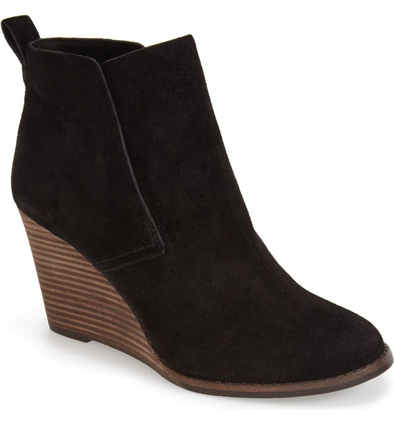 LUCKY BRAND 'Yoniana' Wedge Bootie, Main, color, 001