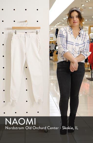 Chrissy Ultra High Waist Raw Hem Skinny Jeans, sales video thumbnail