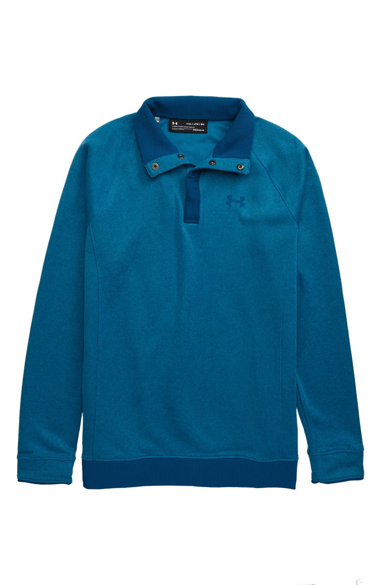 UNDER ARMOUR Storm Half Snap Water Repellent Pullover, Main, color, TEAL VIBE