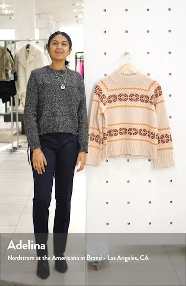 Overbrook Fair Isle Mock Neck Sweater, sales video thumbnail