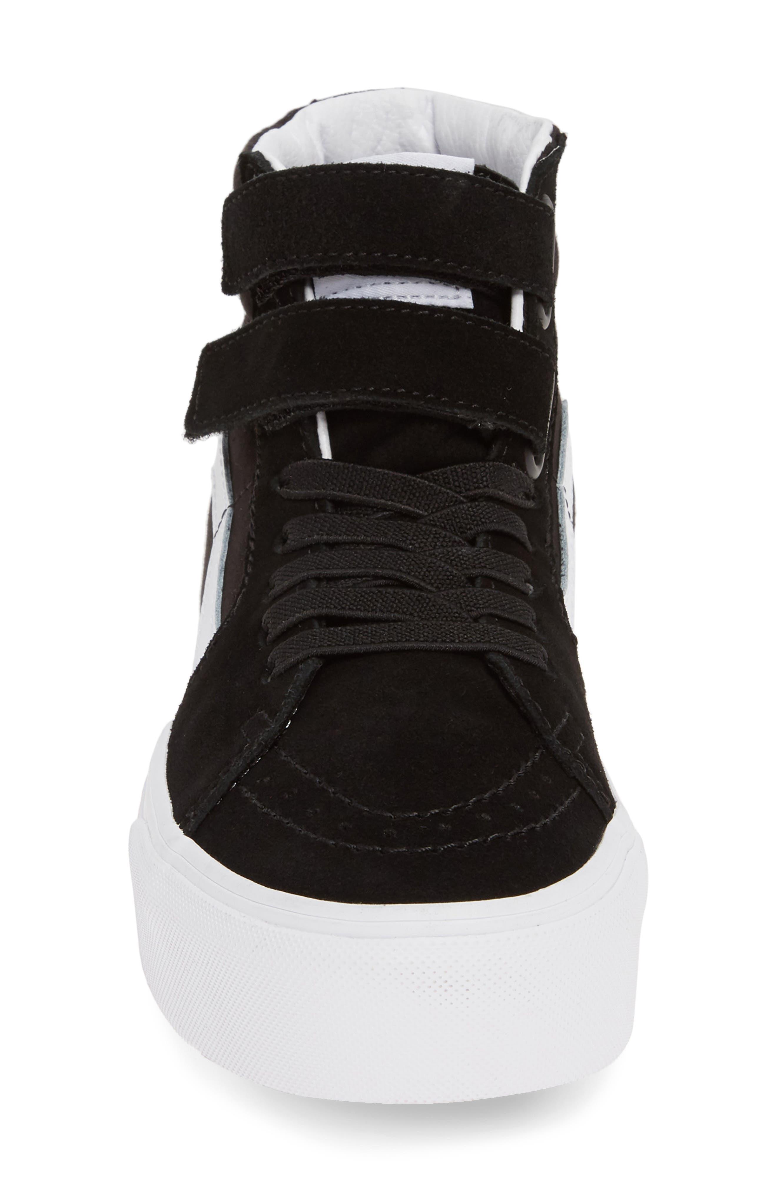 ,                             Sk8-Hi V Rainbow Platform Sneaker,                             Alternate thumbnail 4, color,                             RAINBOW BLACK/ TRUE WHITE