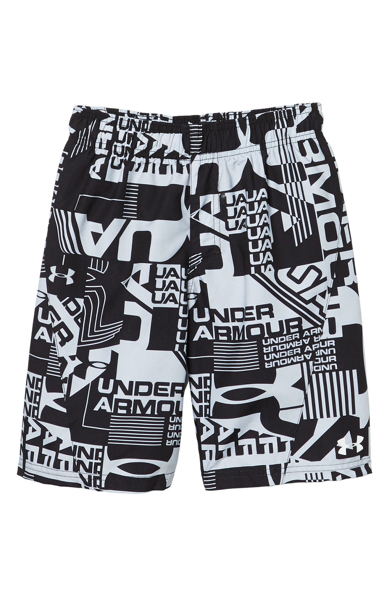 Image of Under Armour Delayed Logo Print Volley Swim Shorts