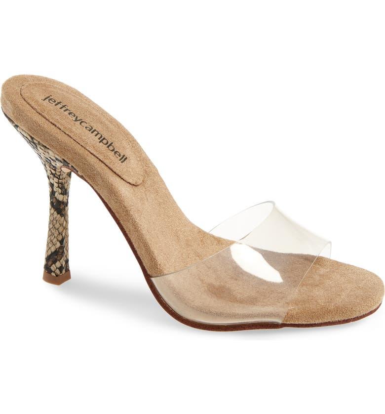 Clear Stiletto Slide Sandal by Jeffrey Campbell