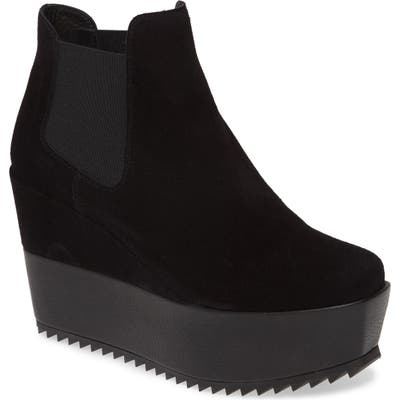 Pedro Garcia Franny Wedge Ankle Boot, Black