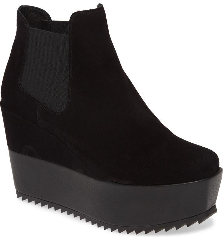 PEDRO GARCIA Franny Wedge Ankle Boot, Main, color, BLACK VELOUR