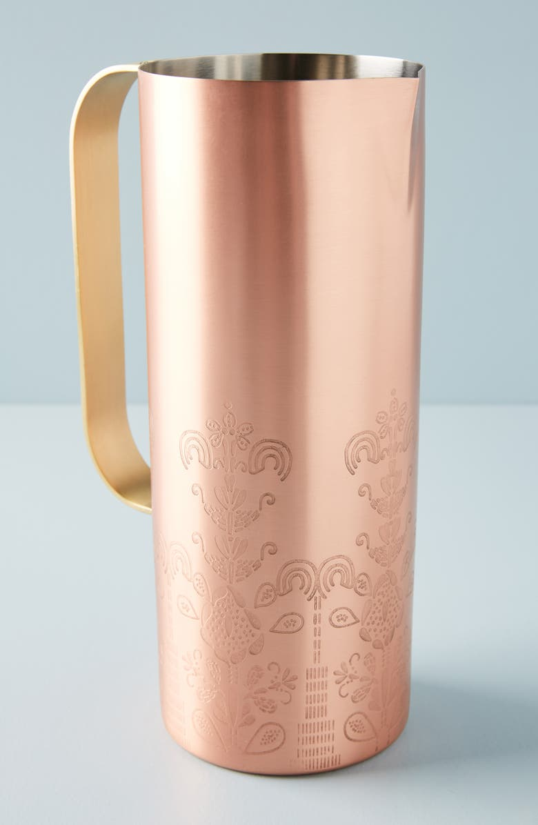 ANTHROPOLOGIE Luna Pitcher, Main, color, COMBO C-SILVER