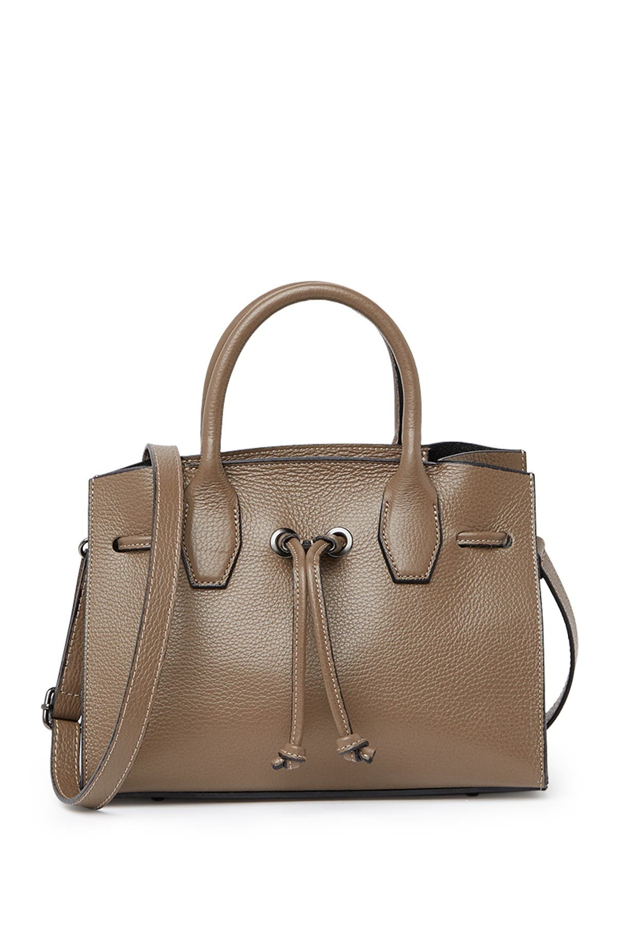 Image of Roberta M Leather Drawstring Satchel