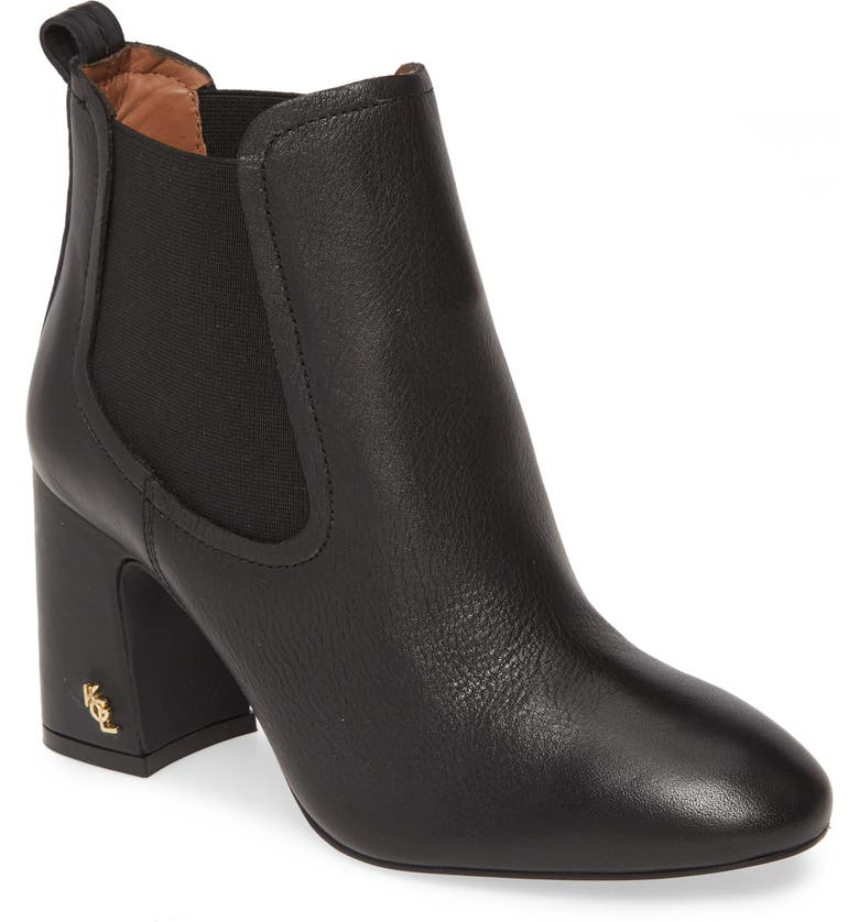 KURT GEIGER LONDON Raylan Bootie, Main, color, BLACK LEATHER