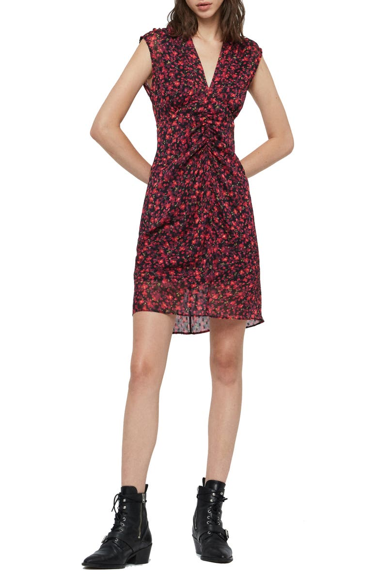 ALLSAINTS Aldine Cheri Blossom Dress, Main, color, PINK