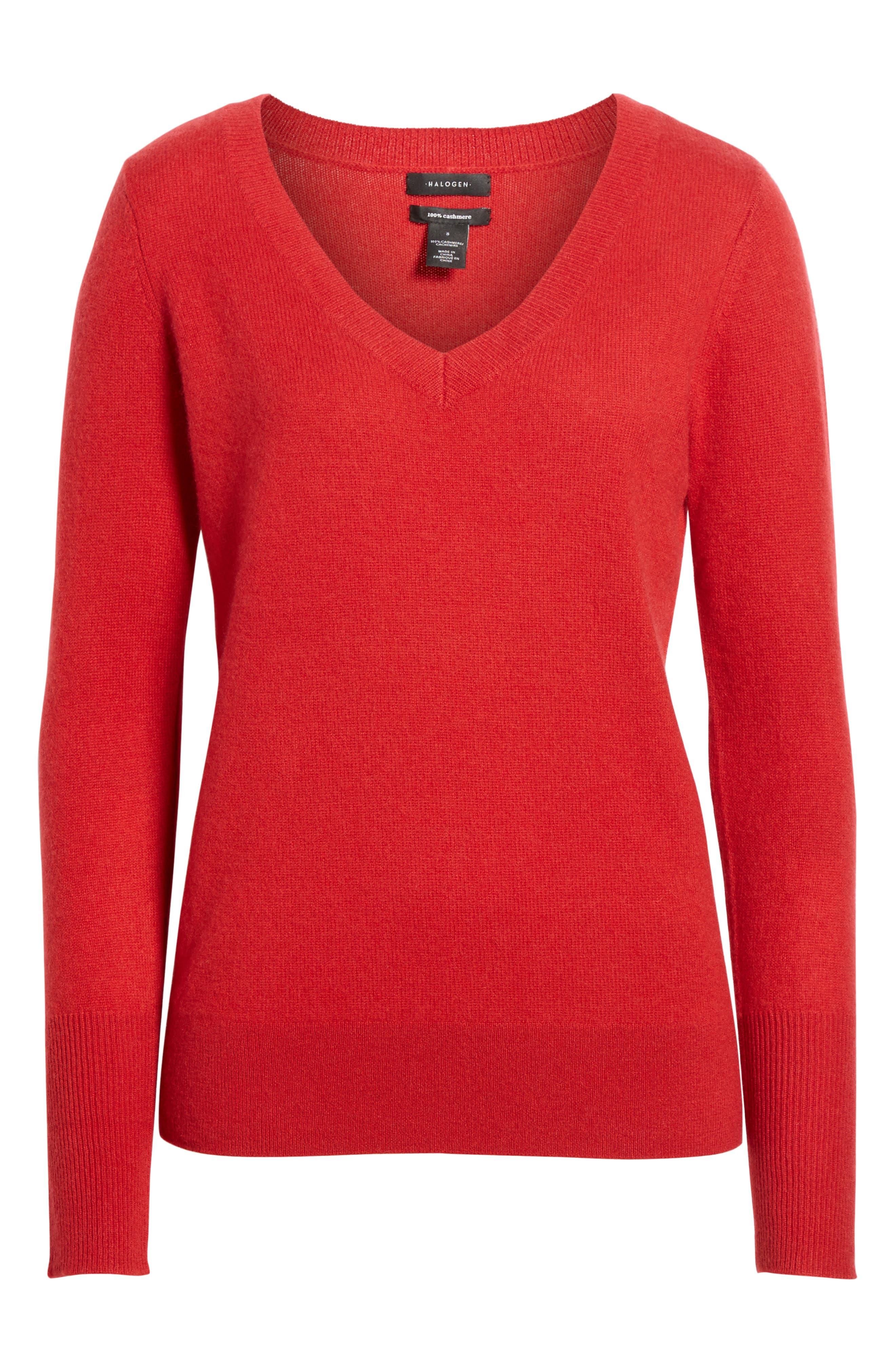 ,                             V-Neck Cashmere Sweater,                             Alternate thumbnail 58, color,                             602