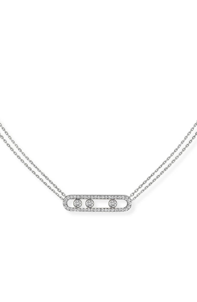 MESSIKA Move Pavé Diamond Pendant Necklace, Main, color, WHITE GOLD