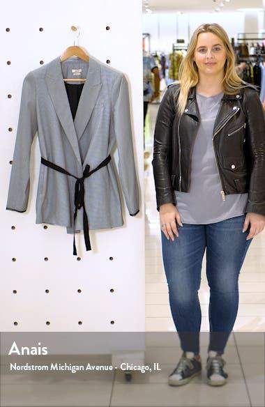 Mini Check Soft Belted Blazer, sales video thumbnail