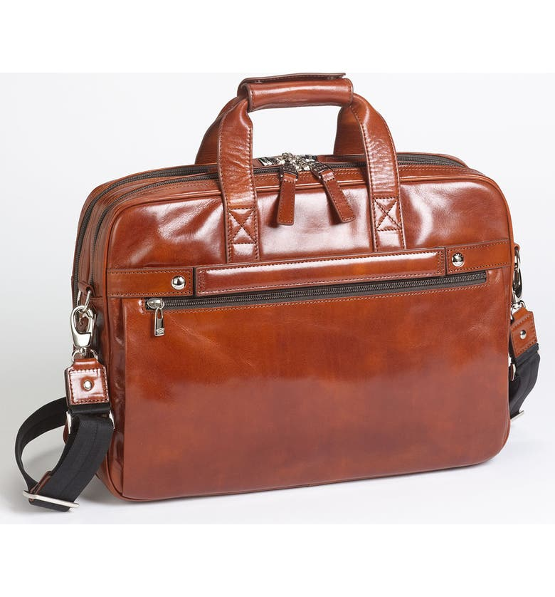 BOSCA Double Compartment Leather Briefcase, Main, color, 233