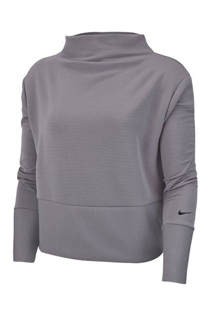 Image of Nike Get Fit Fleece Mock Neck Top