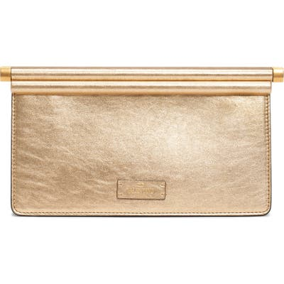Valentino Garavani Small Carry Secrets Leather Clutch - Metallic